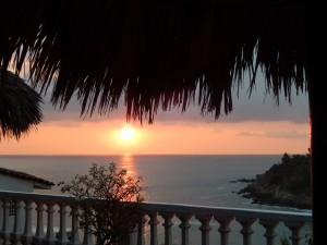 sunset at Carrizalillo Beach