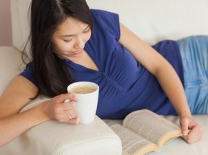 woman reading fiction